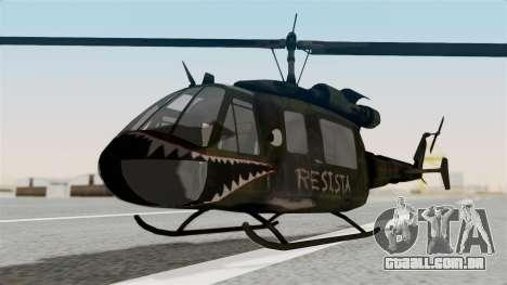 Castro V Attack Copter from Mercenaries 2 para GTA San Andreas vista direita