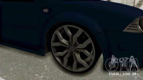Volkswagen Bora 1.8T para GTA San Andreas vista traseira