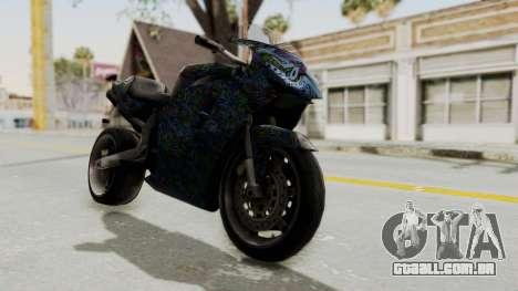 FCR-900 Stunt para GTA San Andreas vista direita