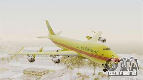 Boeing 747-200 Trans San Andreas Air para GTA San Andreas traseira esquerda vista