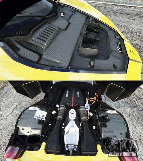 GTA 5 Ferrari LaFerrari vista lateral direita