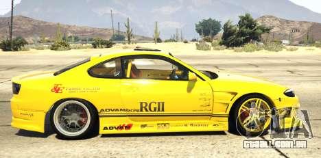 GTA 5 Nissan Silvia S15 Vertex vista lateral esquerda