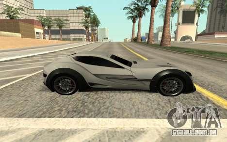 Felino CB7 para GTA San Andreas traseira esquerda vista