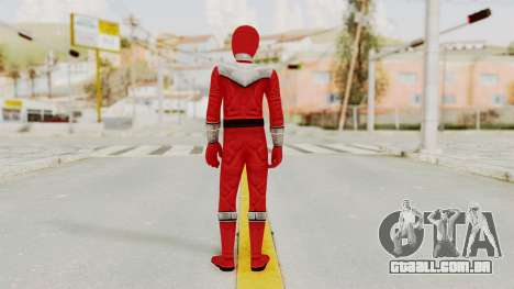 Power Rangers Time Force - Red para GTA San Andreas terceira tela