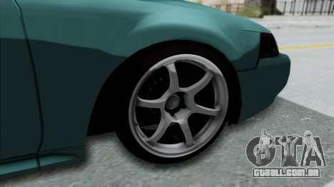 Ford Mustang 1999 Drift Falken para GTA San Andreas vista traseira