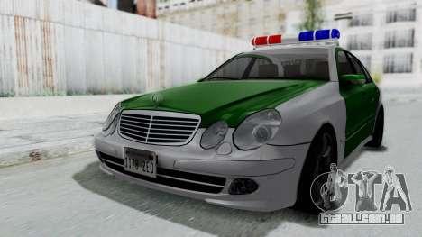 Mercedes-Benz E500 Police para GTA San Andreas vista direita