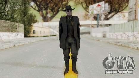MGSV Phantom Pain SKULLFACE No Mask para GTA San Andreas segunda tela