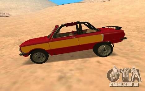 ЗАЗ-968 Estilo Offroad para GTA San Andreas esquerda vista