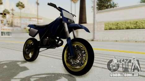 New Sanchez v1 para GTA San Andreas traseira esquerda vista