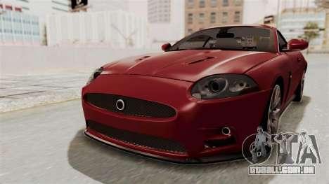 Jaguar XKR-S para GTA San Andreas vista direita