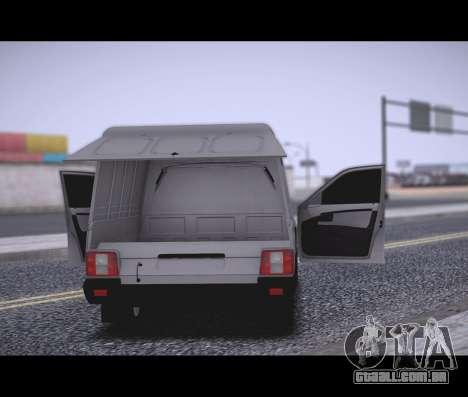 Lada Priora Stok Budka para GTA San Andreas traseira esquerda vista