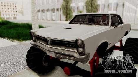 Pontiac GTO Tempest Lemans 1965 Monster Truck para GTA San Andreas vista traseira