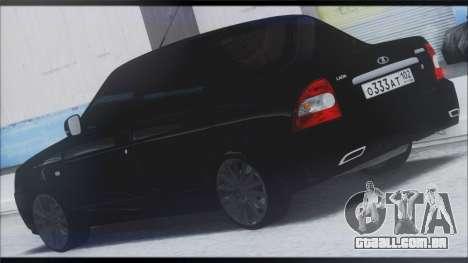 Lada Priora Sedan para GTA San Andreas traseira esquerda vista