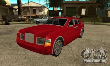 Rolls Royce Phantom para GTA San Andreas traseira esquerda vista