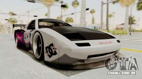 Mazda RX-7 FC Itasha para GTA San Andreas vista direita