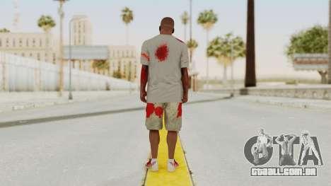 GTA 5 Franklin Zombie Skin para GTA San Andreas terceira tela