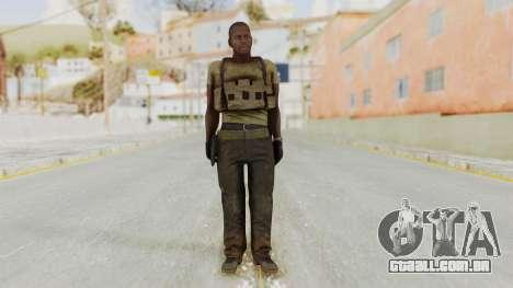 MGSV Phantom Pain RC Soldier T-shirt v2 para GTA San Andreas segunda tela