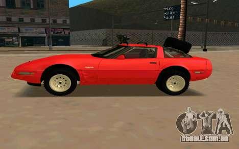 Chevrolet Corvette C4 para GTA San Andreas esquerda vista