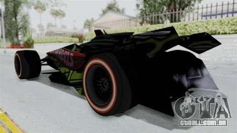 Bad to the Blade from Hot Wheels para GTA San Andreas esquerda vista