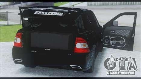 Lada Priora Sedan para GTA San Andreas vista interior