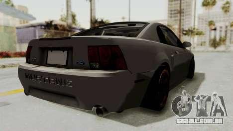 Ford Mustang 1999 Drift para GTA San Andreas esquerda vista