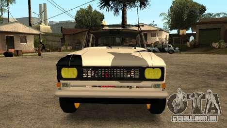 AZLK 412 para GTA San Andreas esquerda vista