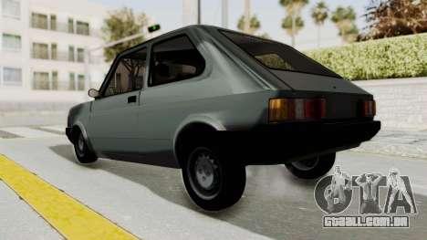 Fiat 147 Vivace para GTA San Andreas traseira esquerda vista