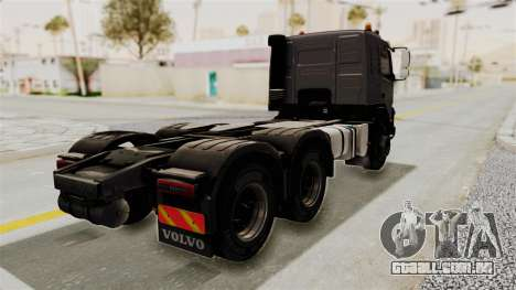 Volvo FMX Euro 5 6x4 para GTA San Andreas traseira esquerda vista