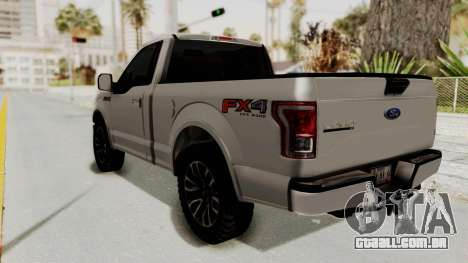 Ford Lobo XLT 2015 Single Cab para GTA San Andreas esquerda vista