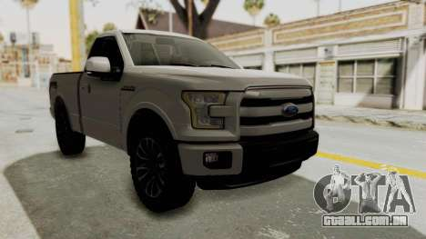 Ford Lobo XLT 2015 Single Cab para GTA San Andreas vista direita