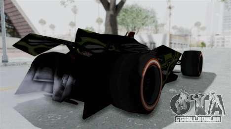 Bad to the Blade from Hot Wheels para GTA San Andreas traseira esquerda vista