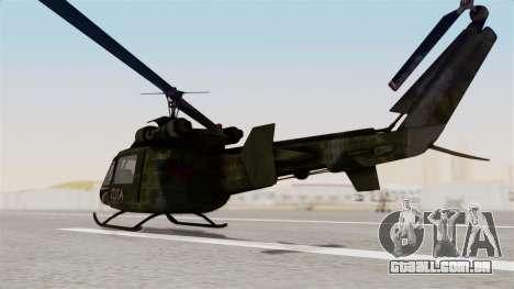 Castro V Attack Copter from Mercenaries 2 para GTA San Andreas traseira esquerda vista