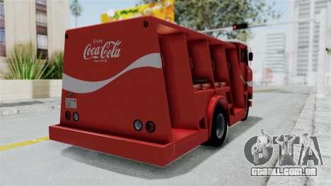 Ford P600 1964 Coca-Cola Delivery Truck para GTA San Andreas esquerda vista