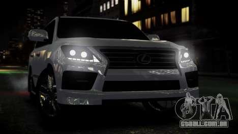 Lexus Lx 570 2014 sport para GTA 4 vista direita