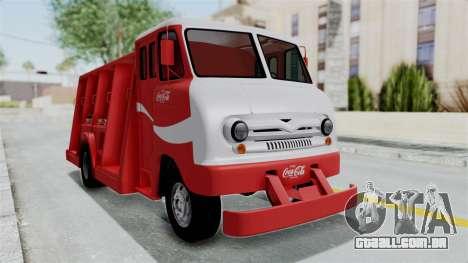 Ford P600 1964 Coca-Cola Delivery Truck para GTA San Andreas traseira esquerda vista