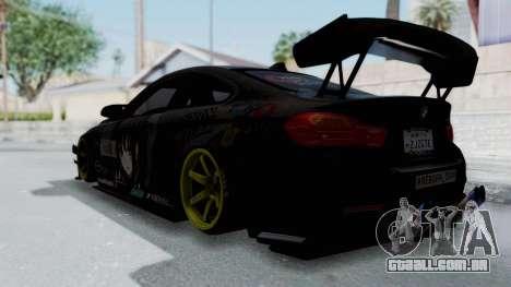 BMW M4 Kurumi Itasha para GTA San Andreas esquerda vista