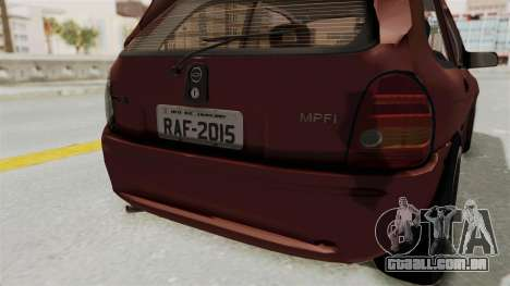 Chevrolet Corsa Hatchback Tuning v1 para GTA San Andreas vista inferior