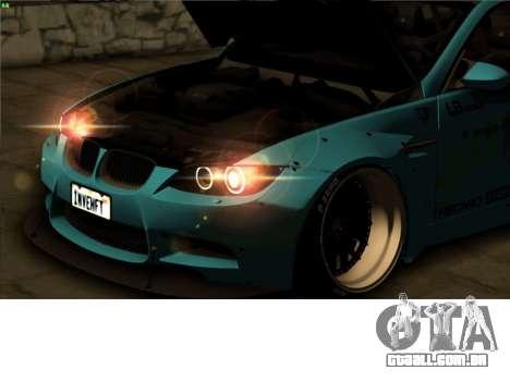 BMW M3 E92 Liberdade Pé LB Desempenho para GTA San Andreas vista interior