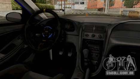 Ford Mustang 1999 Drag para GTA San Andreas vista traseira