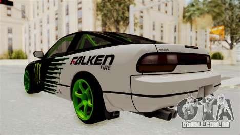 Nissan 240SX Drift Monster Energy Falken para GTA San Andreas esquerda vista