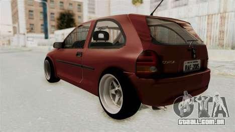 Chevrolet Corsa Hatchback Tuning v1 para GTA San Andreas esquerda vista