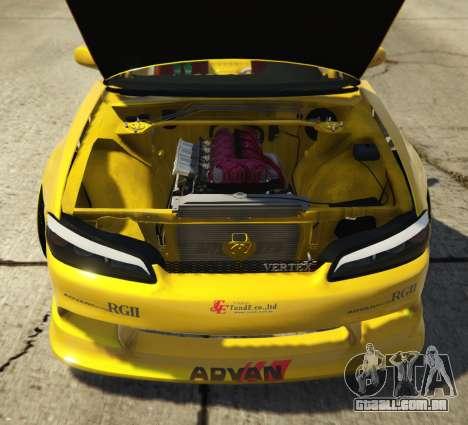 GTA 5 Nissan Silvia S15 Vertex traseira direita vista lateral