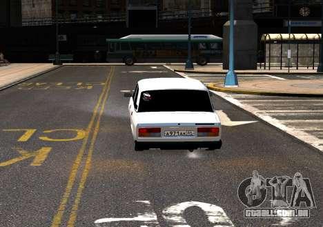 VAZ 2107 AzElow para GTA 4 vista de volta