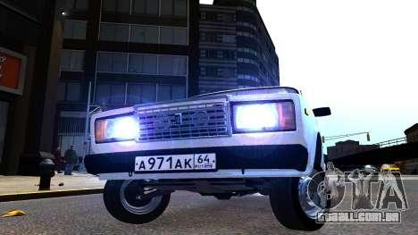 VAZ 2107 AzElow para GTA 4 traseira esquerda vista