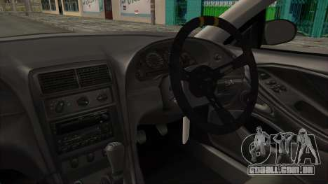 Ford Mustang 1999 Drift para GTA San Andreas vista interior