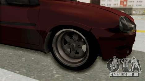 Chevrolet Corsa Hatchback Tuning v1 para GTA San Andreas vista traseira