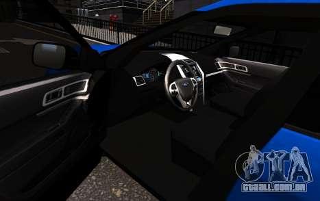 Ford Explorer 2013 para GTA 4 esquerda vista