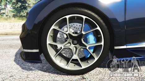 GTA 5 Bugatti Chiron traseira direita vista lateral