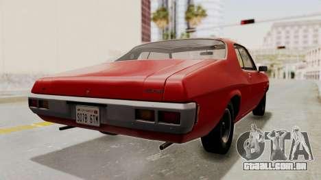 Holden Monaro GTS 1971 SA Plate HQLM para GTA San Andreas esquerda vista