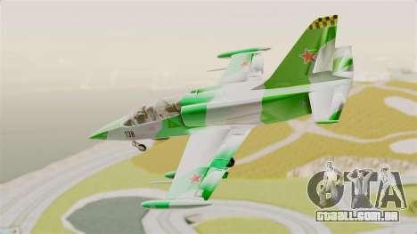 LCA L-39 Albatros para GTA San Andreas traseira esquerda vista